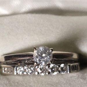 Diamond wedding rings.